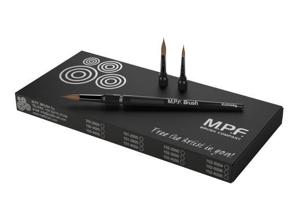 MPF Standard Spring 3-in-1 Keramikpinsel Set, schwarz