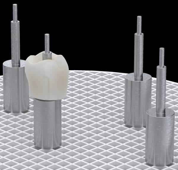 Spezielle Edelstahl-Pins für Implantatteile Kronen und Brücken