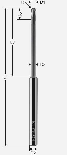 Stirnradiusfräser Zirkonoxid, PMMA/Wachs kompatibel mit 3M Espe Lava Frässystemen