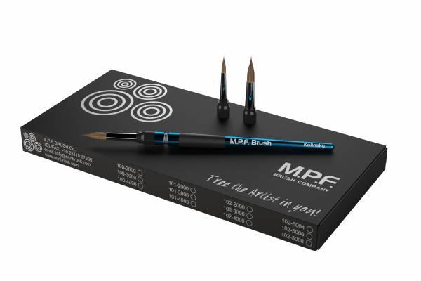 MPF Standard Spring 3-in-1 Keramikpinsel Set, hellblau