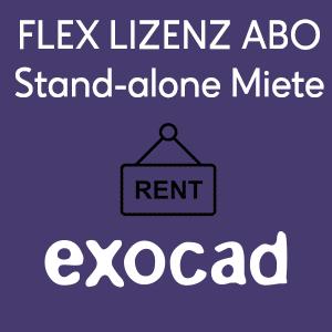 exocad Stand-Alone Flex-License (Miete)