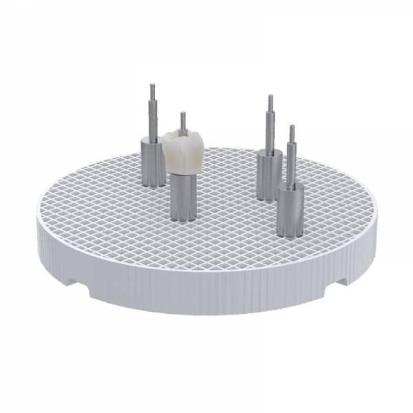 MPF Wabenträger mit 4 Pins für implantat getragene Zahnkronen und Brücken